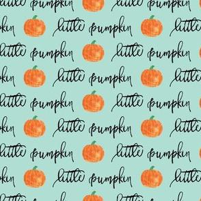 little pumpkin - halloween - aqua script
