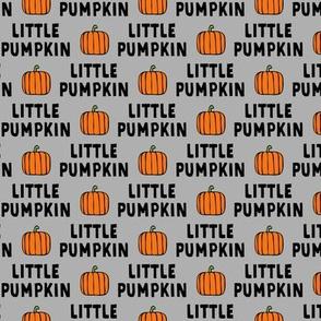 little pumpkin - halloween - grey