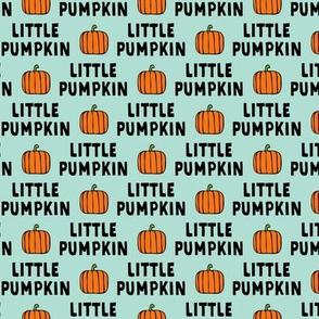 little pumpkin - halloween - aqua