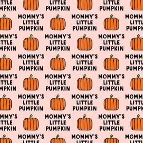 mommy's little pumpkin - halloween - pink