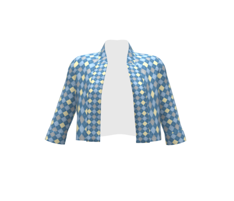 Blue Linen check pattern, golf sweater