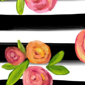 STRIPES AND POSIES - LARGE