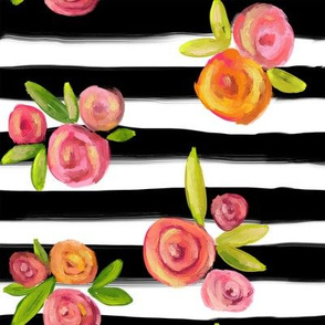 STRIPES AND POSIES - MED