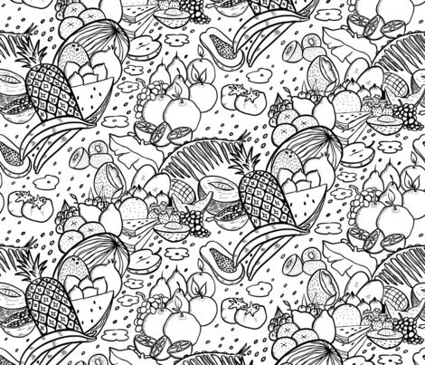 FRUITS_FRENZY fabric by yasminah_combary on Spoonflower - custom fabric