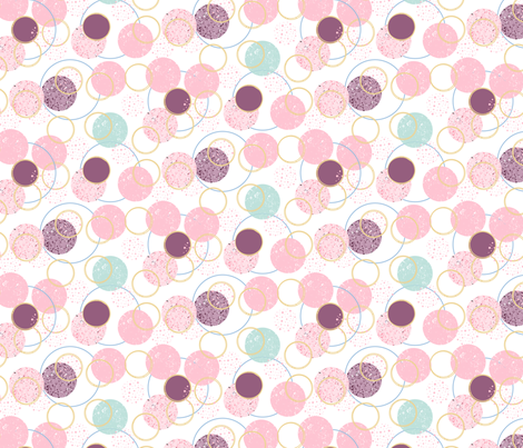 circles pastel fabric by pixabo on Spoonflower - custom fabric