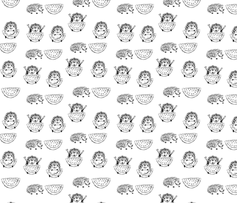 Hungry Hedgie fabric by davidmichael_designs on Spoonflower - custom fabric