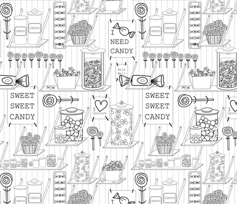 Candyshop fabric by blijmaker on Spoonflower - custom fabric