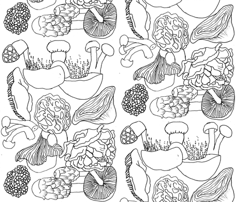 Never Gamble a Shroom fabric by stephansuch on Spoonflower - custom fabric
