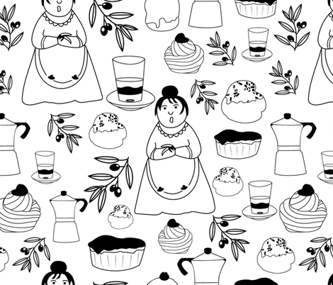 MammaSalento fabric by liudmilakopecka on Spoonflower - custom fabric