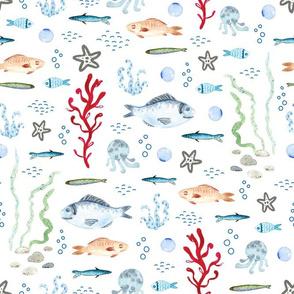 Fish Traffic (on white)
