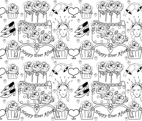 Cake & Wedding fabric by gracelillydesigns on Spoonflower - custom fabric