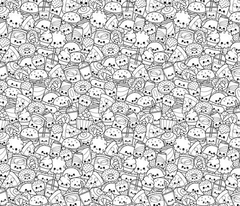 Kawaii Munchies fabric by raccoongirl on Spoonflower - custom fabric