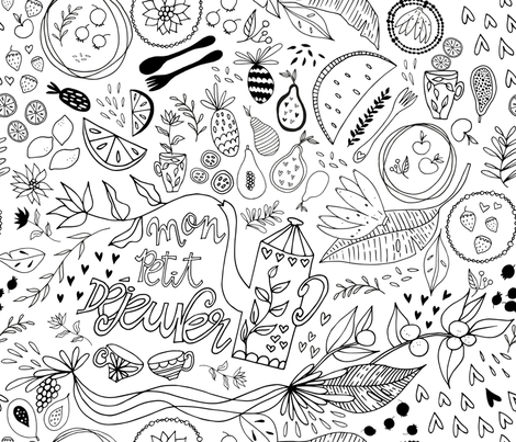 Mon Petit Déjeuner fabric by patriciasodre on Spoonflower - custom fabric