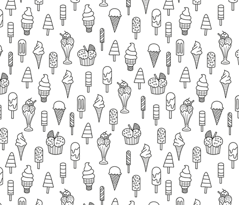 Dreaming of Ice Cream fabric by rebecca_ashley on Spoonflower - custom fabric