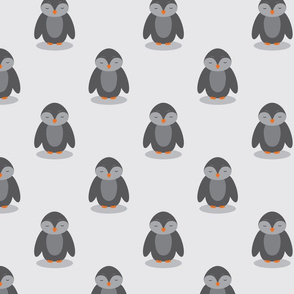 Cute Penguins in Grey