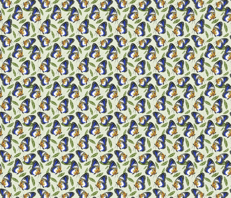 Butterflies and leaves fabric by natalia_gonzalez on Spoonflower - custom fabric