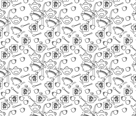 food franzy 1  fabric by creart_raffy on Spoonflower - custom fabric
