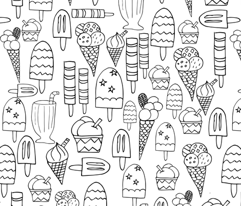 IceCreamFeast fabric by maredesigns on Spoonflower - custom fabric