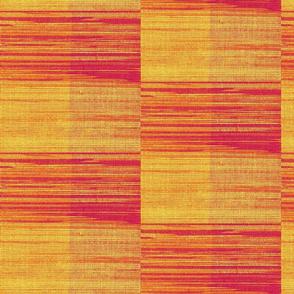 red, orange and yellow box plaid