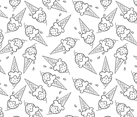 ice cream cones fabric by fanciful_whimsy on Spoonflower - custom fabric