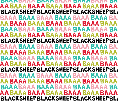 BaaBaaBlackSheep-Light fabric by beckarahn on Spoonflower - custom fabric
