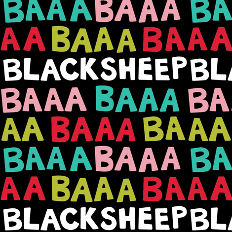 BaaBaaBlackSheep - Dark fabric by beckarahn on Spoonflower - custom fabric