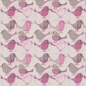 Quilted Birds Pattern
