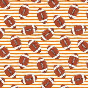 (small scale) college football (orange stripes)