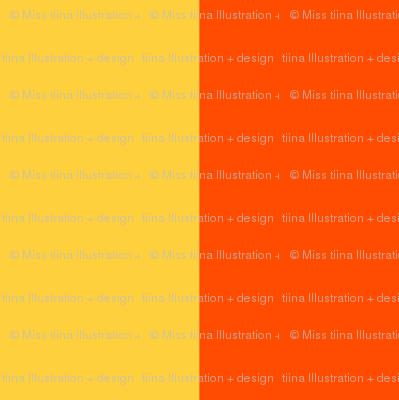 orange yellow stripes 2in | custom