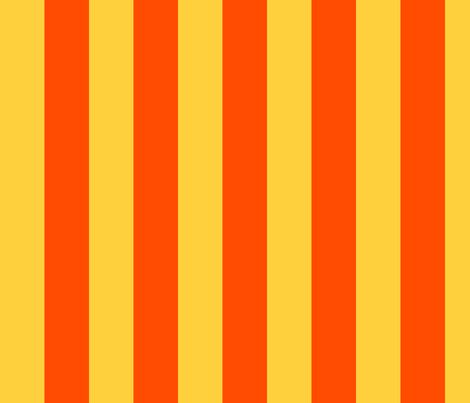 orange yellow stripes 2in | custom fabric by misstiina on Spoonflower - custom fabric