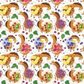 Colorful giraffles