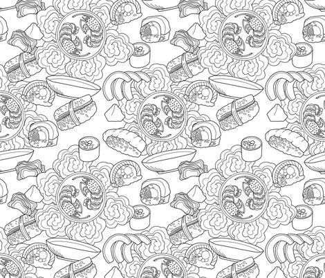 Sushi Frenzy fabric by washburnart on Spoonflower - custom fabric