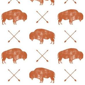 distressed buffalo and arrows (adventure orange)