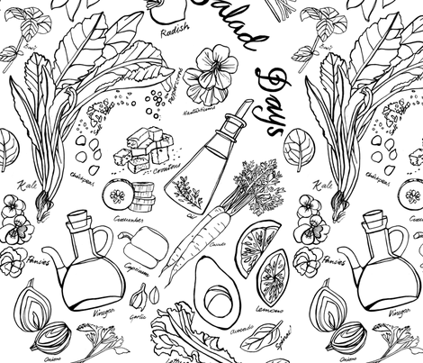 SaladDaysDanielaGlassop fabric by daniela_glassop on Spoonflower - custom fabric