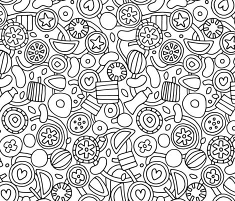 candy bw fabric by scrummy on Spoonflower - custom fabric