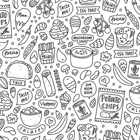 My favorite food fabric by stolenpencil on Spoonflower - custom fabric