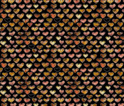 Fall_Floral_Hearts_DK-Jamie_Kalvestran fabric by jamie_kalvestran_scrap-bags on Spoonflower - custom fabric