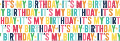 it's my birthday // rainbow with navy
