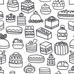 Patisserie {Colouring In}