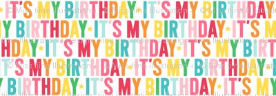 it's my birthday // rainbow with light pink