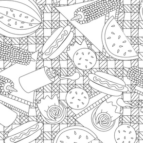 Summer Picnic Coloring Book