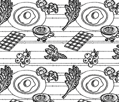 Food Frenzy - Nootropics fabric by nicebutton on Spoonflower - custom fabric