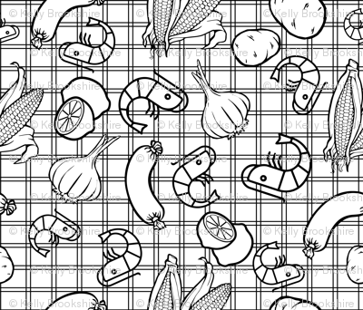 Shrimp Boil Coloring Page