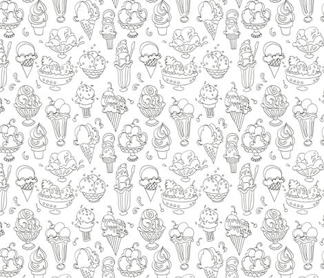 I Always Scream for Ice Cream! fabric by whitney_art_spot on Spoonflower - custom fabric