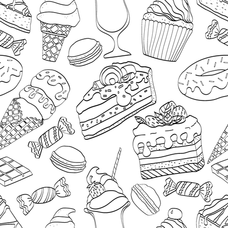 just desserts fabric by glitterstreet on Spoonflower - custom fabric