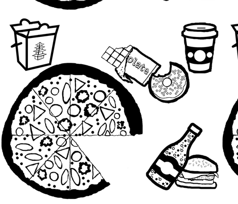 The 7 Basic Food Groups of College Students fabric by uberdesigns on Spoonflower - custom fabric