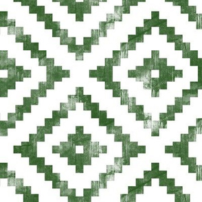 aztec distressed - green