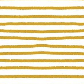Sketchy Stripes // Mustard