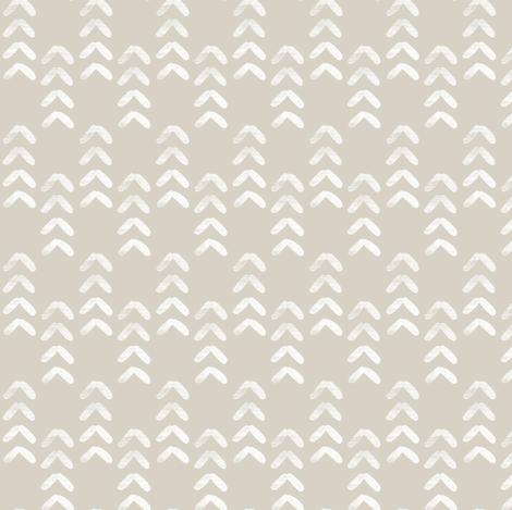 arrow stitch - beige fabric by littlearrowdesign on Spoonflower - custom fabric