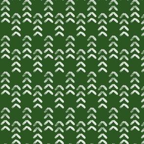 arrow stitch - green